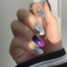 "3,599 Likes, 48 Comments - 유니스텔라 네일_박은경 (@nail_unistella) on Instagram: ""It's all about diamond 💎#diamonnail #unistella"""