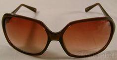 Nicole Miller Signature Eyewear Sunglasses Oversized Large Brown Oval 60-16-125 #NicoleMiller #Oval