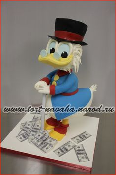 - Donald Duck Cake, Cake Ideas, Smurfs, Kids, Fictional Characters, Art, Young Children, Art Background, Boys