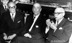 Raúl Leoni en compañía de Rómulo Gallegos y Rómulo Betancourt. 11.03.1964 (PEDRO GARRIDO / COLECCION ARCHIVO EL NACIONALl)