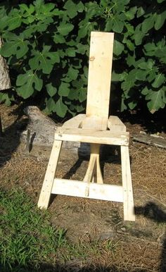 An Irish tuam- a 5th century chair. We have the instructions- maybe this year we will make one.