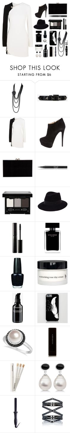 """""""Girl's Night Out // Sapphire"""" by flower-crown-gurls ❤ liked on Polyvore featuring beauty, Chanel, Valentino, Thierry Mugler, Giuseppe Zanotti, Charlotte Olympia, Stila, NYX, Maison Michel and Surratt"""
