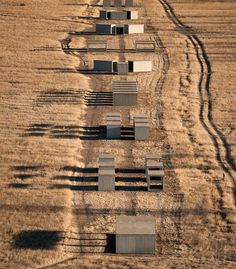 Donald Judd's 15 Untitled Works in Concrete (photo by Cameron Davidson), Chinati Foundation | Marfa