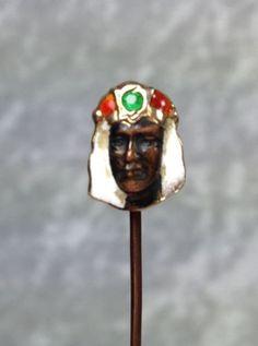 Stick Pins, Hat Pins, Lapel Pins, Egyptian, Emerald, Ethnic, Skull, Enamel, Victorian