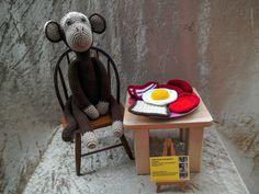 Crochet English breakfast set pretend by kingsnqueenscrochet
