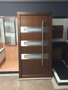 """In Stock Modern Mahogany Wood Exterior Doors for Your Home. Size W 42"""" x H 84"""". Door Entrance W 36"""" x H 80"""". Include Door,Jambs,Sill,Door Handles and Locks. www.shop.libertywindoors.com"""