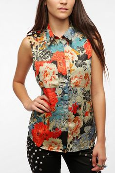 Reformed By The Reformation Bea Sleeveless Blouse  #UrbanOutfitters in extra small