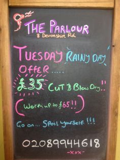 one of our fab spur o' the moment specials! Keep up to date by following us on Facebook and Twitter! www.theparlourlondon.com
