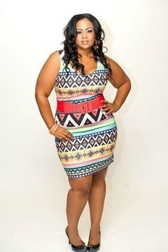 Plus size tank dress... This reminds me of my boo Nobie. I'm sure she has something like this
