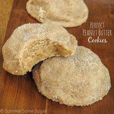 Perfect peanut butter cookies. Incredibly thick and soft cookies loaded with peanut butter and rolled in sugar. My absolute favorite go-to recipe!