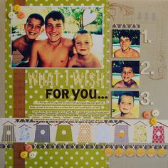 What I wish for you. by Rene Sharp at Studio Calico My Wish For You, I Wish, Hello Dear, Scrapbook Embellishments, Studio Calico, Challenges, Scrapbook Layouts, Scrapbooking, Learning