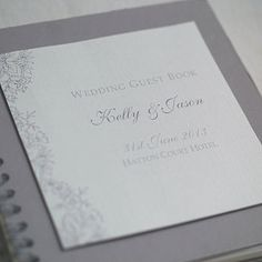 Vintage Lace Design Wedding Guestbook