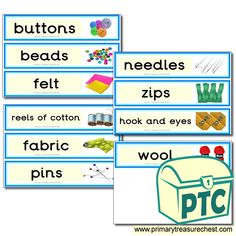 Classroom Equipment Drawer Labels & Posters - Primary Treasure Chest Teaching Activities, Teaching Ideas, Drawer Labels, Classroom Signs, Classroom Organisation, Coat Hooks, Treasure Chest, Needle Felting, Drawers
