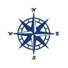 NAUTICAL COMPASS Machine Embroidery Design 4 by zebrakingstitches