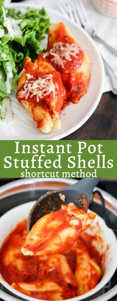Instant Pot Stuffed Shells is a shortcut recipe using frozen stuffed shells that takes barely any time! This will become a busy weeknight staple in your weekly meal plan! Instant Pot Pressure Cooker, Pressure Cooker Recipes, Pressure Cooking, Ways To Cook Asparagus, Best Slow Cooker, Stuffed Shells, Meals For The Week, Cooking Recipes, Easy Recipes