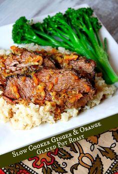 Slow Cooker Ginger and Orange Glazed Pot Roast