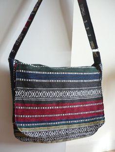Cross Body Bag, Messenger Bag, Shoulder Bag  Woven Fabric on Etsy, £9.42