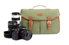 Army Green Vintage Look Britpop DSLR Camera Bag  Shoulder Canvas Bag Christmas Gift