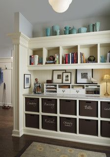 Great Idea for Home Organization.  Franklin Mud Room - traditional - detroit - by AMW Design Studio