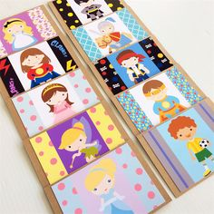 Children's Character Birthday Blank Card Set of 10 Cards for all Occasions