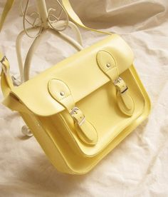 2013 S/S - Pastel Satchel Messanger Bags - yellow $85.00