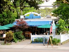 Pie in the Sky bakery is one of the best known places in Woods Hole.
