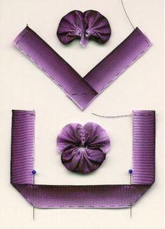 Training Ribbon embroidery, sewing ribbon flowers