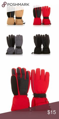 "Battery-Operated Heated Snow Winter Gloves Red Keep your hands warm on chilly days with these heated gloves. These battery-powered mitts provide hours of warmth and a secure grip for all sorts of outdoor activities. Like to enjoy the night air? They have built-in reflectors to help keep you safe. There's even a soft suede strip for gently wiping cold, runny noses. Your hands are good to you, so love them back!   Approx. 12-3/4""L 4 AA batteries per glove, not included Use outside while…"