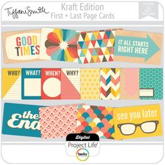 Kraft Edition First + Last Page Cards
