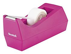 Scotch Classic Desktop Tape Dispenser Pink for Core Tapes 1 for sale online College Supplies, Desk Supplies, Office Supplies, Educational Supply Store, Pink Office, File Organiser, Scotch Tape, Tape Dispenser, Paper Tape