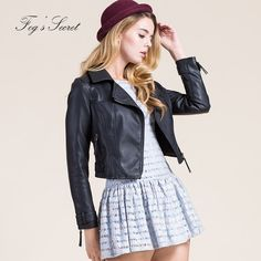 Cheap price US $24.99  Fashion Clothes Leather Jackets Spring Winter Women PU Black Zippers Coat Motorcycle Outerwear  . Get promo for product: Leder Jacket.