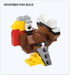 LEGO Thanksgiving Turkey Mini-Model