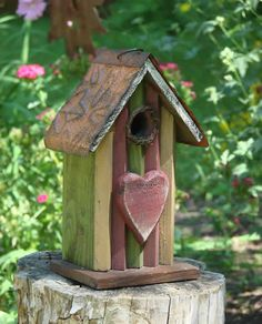 Birdhouse Wooden Heart