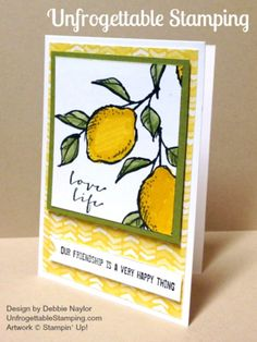 Unfrogettable Stamping   Quick & Easy friendship card featuring A Happy Thing stamp set and Best Year Ever DSP, both Sale-a-Bration selections by Stampin' Up!