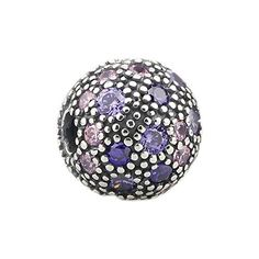 Beads Hunter 925 Sterling Silver Charm Purple Bubbles Clip Stoppers Fit Pandora Bracelets *** Read more  at the image link. (This is an Amazon affiliate link)