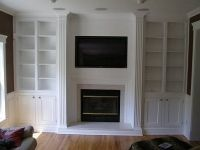 built in gun cabinet designs in living room | Built-in Cabinet Ideas