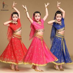 Bellydance Kids Indian Costume Kids Belly Dance Girl Bollywood Indian Performance Cloth Source by La Indian Costume Kids, Indian Costumes, Kids Costumes Girls, Girl Costumes, Dance Outfits, Girl Outfits, Bollywood Dance Costumes, Belly Dancer Costumes, Dress Indian Style
