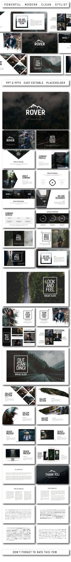 Rover Multipurpose Powerpoint Template - PowerPoint Templates Presentation Templates