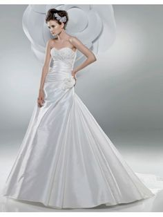 Taffeta Sweetheart Directionally Ruched Bodice Mermaid Wedding Dress
