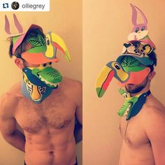 #Repost @olliegrey ・・・ Time to face the future, Happy New Year! #Newyearseve#masks#colbykeller