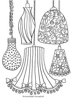 coloriage Différentes lampes