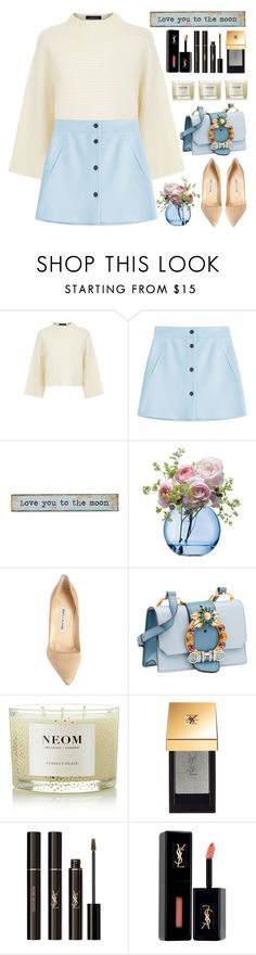 """Love you to the moon"" by itsybitsy62 ❤ liked on Polyvore featuring Jaeger, Paul & Joe, Natural Life, LSA International, Manolo Blahnik, Miu Miu, NEOM Organics and Yves Saint Laurent"