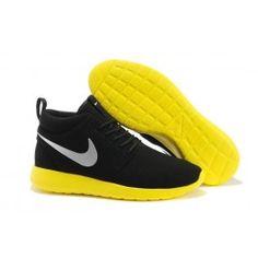 Helt nye Nike Roshe Run Mid Sort Gul Grå Unisex Skobutik | Køligt Roshe Run Mid Skobutik | Nike Skobutik Til Salg | denmarksko.com