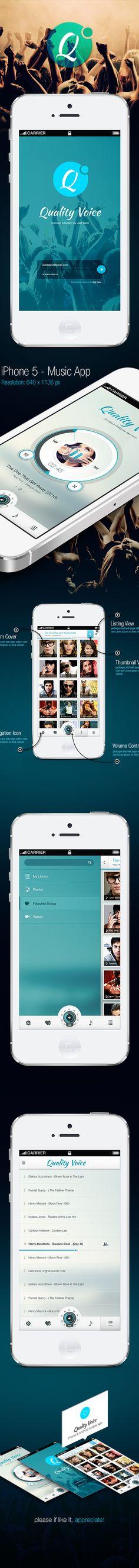 Quality Voice – Mobile App UI