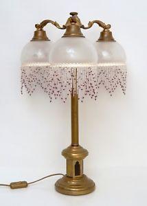 Tischlampe Messing Lampe Messinglampe Jugendstillampe Jugendstil Lampenfuß 21