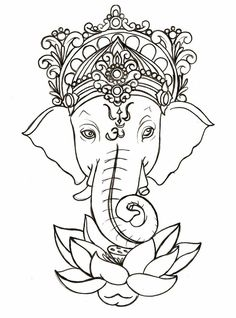 Something about ganesh makes me feel at peace. I love the om symbol in this. Ganesh- god of obstacles and wisdom. Id love this below my Ancora imparo