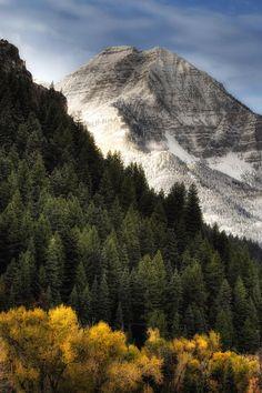 Mount Timpanogos, Wasatch Mountains, Utah; photo by Utah Images
