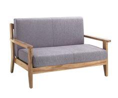 sofà 2 places, fusta de pi