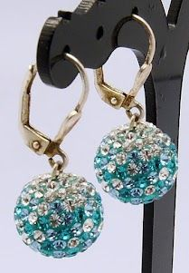 Swarovski Crystal Earrings, with Sterling Silver and Polymer Clay Findings