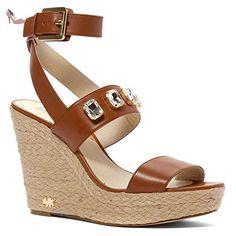 Compensée Michael Kors Femme Cuir Marron 40R5LYMS2LLUGGAGE Marron clair 35EU - Chaussures michael kors (*Partner-Link)